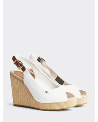 Tommy Hilfiger - Iconic Slingback Wedges - Lyst