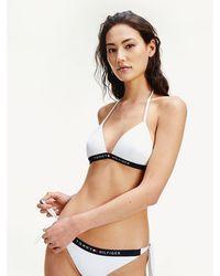 Tommy Hilfiger Bikini-Oberteil mit Neckholder - Weiß