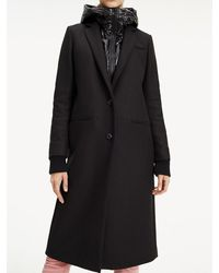 superior quality various colors price reduced Tommy Hilfiger Synthetic Nichelle Coat in Navy (Blue) - Lyst