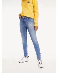 Tommy Hilfiger Nora Medium Rise Skinny Jeans - Blauw