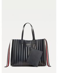 Tommy Hilfiger Tommy Icons Plisse Tote - Blue