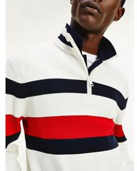 Tommy Hilfiger - Bold Half Zip Relaxed Fit Jumper - Lyst
