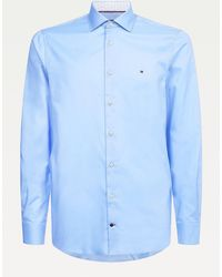 Tommy Hilfiger Slim Fit Overhemd Van Twill Katoen - Blauw