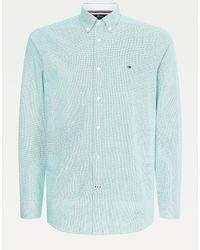 Tommy Hilfiger Th Flex Slim Fit Overhemd Van Dobbykatoen - Groen