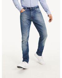 Tommy Hilfiger Tapered Slim Fit Jeans aus Denim - Blau