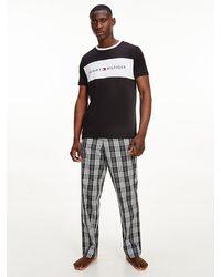 Tommy Hilfiger - Lounge Logo Flag T Shirt Black - Lyst