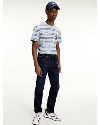 Tommy Hilfiger Ryan Straight Fit Stretchjeans - Blauw
