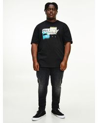 Tommy Hilfiger - Plus Faded Logo Organic Cotton T-shirt - Lyst
