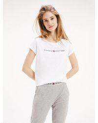 Tommy Hilfiger Logo Cotton T-shirt - White