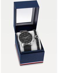 Tommy Hilfiger Cadeauset Met Horloge En Armband - Zwart