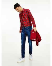 Tommy Hilfiger - Slim Fit Tapered Jeans Met Fading - Lyst