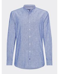 Tommy Hilfiger Chambray Slim Fit Overhemd - Blauw