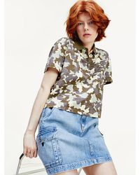 Tommy Hilfiger - Camouflage Cropped Fit Polo - Lyst