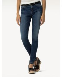 Tommy Hilfiger Como Faded Skinny Fit Jeans - Blauw
