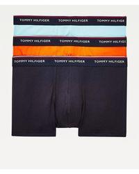 Tommy Hilfiger Set Van 3 Boxershorts Van Stretchkatoen - Naturel