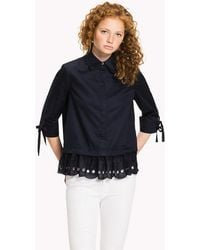 Tommy Hilfiger - Scalloped Broderie Blouse - Lyst