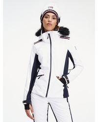 Tommy Hilfiger Gewatteerd Ski-jack - Wit