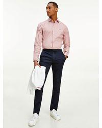 Tommy Hilfiger Slim Fit Overhemd Met Microruit - Rood