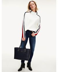 Tommy Hilfiger Como Mid Rise Skinny Jeans Met Fading - Blauw