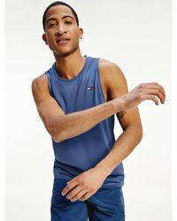 Tommy Hilfiger Sport Training Relaxed Fit Tank Top - Blue