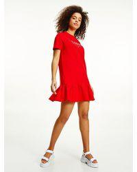 Tommy Hilfiger Peplum T-shirt Dress - Red