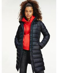 Tommy Hilfiger Essential Faux Fur Hooded Down Coat - Black