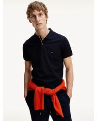 Tommy Hilfiger - Luxe Slim Fit Katoenen Polo - Lyst