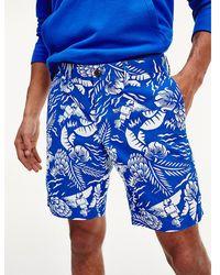 Tommy Hilfiger Korte Broek Met Hawaii-print - Blauw