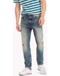 Tommy Hilfiger - Tj 1988 Distressed Tapered Jeans - Lyst