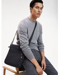 Tommy Hilfiger Business Leather Crossover Bag - Black