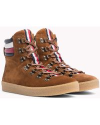 Tommy Hilfiger - Suede Hiking Boots - Lyst