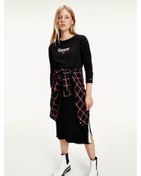 Tommy Hilfiger Essential T-shirt Met Lange Mouwen - Zwart