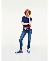 Tommy Hilfiger - Logo Collar Cropped Fit Polo - Lyst