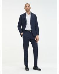 Tommy Hilfiger Slim Fit Pantalon - Blauw