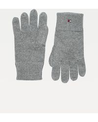 Tommy Hilfiger Handschoenen Van Pima-katoenmix Met Geborduurde Vlag - Grijs