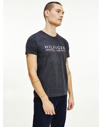 Tommy Hilfiger Biologisch Katoenen T-shirt Met 1985-logo - Grijs