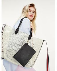 Tommy Hilfiger Tommy Icons Transparante Shopper - Wit