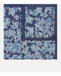 Tommy Hilfiger Zijden Pochet Met Bloemenprint - Blauw