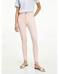 Tommy Hilfiger Pantalon super skinny longueur cheville - Rose