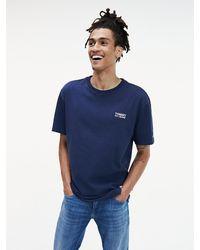 Tommy Hilfiger Katoenen T-shirt Met Logo - Blauw