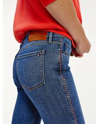 Tommy Hilfiger Como Skinny Fit Jeans Met Powerstretch - Blauw