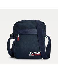 Tommy Hilfiger Campus Reportertas - Blauw