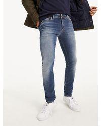 Tommy Hilfiger Simon Skinny Fit Jeans Met Verwassen Look - Blauw