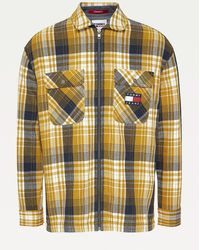 Tommy Hilfiger Relaxed Fit Overshirt Met Ruit - Metallic