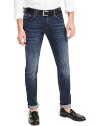 Tommy Hilfiger Bleecker Slim Fit Jeans Met Donkere Wassing - Blauw