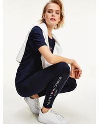 Tommy Hilfiger Legging Met Logo - Blauw