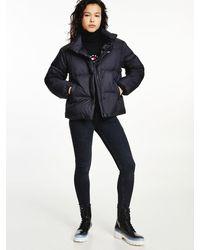 Tommy Hilfiger Down Concealed Zip Puffer Jacket - Black
