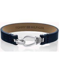 Tommy Hilfiger - Pure Leather Bracelet - Lyst