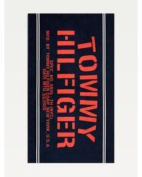 Tommy Hilfiger New York Logo Pure Cotton Towel - Blue
