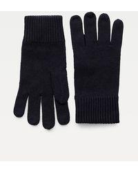 Tommy Hilfiger Handschuhe aus Pima-Baumwoll-Kaschmirmix - Blau